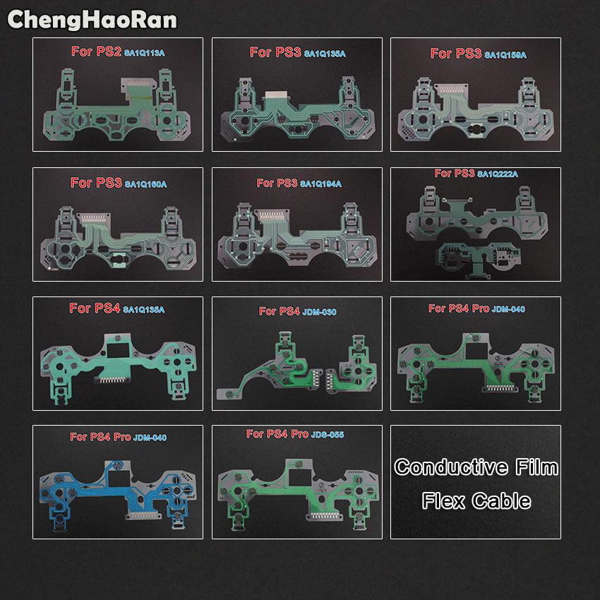 ChengHaoRan For PS2 PS3 PS4 Controller Conductive Film Flex Cable For PS4 Pro Slim Joystick Repair Part,JDM 030 040 JDS-055