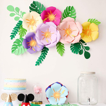 Double-deck Paper Flower Decoration DIY Artificial Party Wedding Backdrop Wall artificial flowers