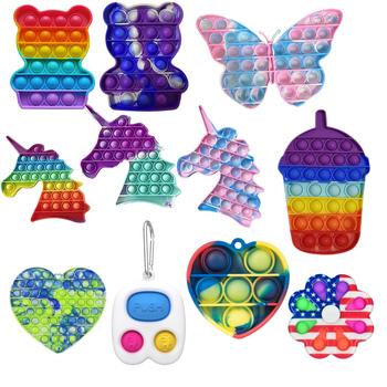 Pop Fidget reliever stres zabawki Squishy Sensory antystresowy Relief Figet zabawki Pop It poput prezent Pop Fidget reliever stres zabawki tanie i dobre opinie CN (pochodzenie) 13-24m 25-36m 4-6y 7-12y 12 + y Squeeze Toys Zwierzęta i Natura Do jazdy Fantasy i sci-fi Zawody Sport