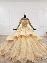 Bgw 럭셔리 일어나는 드레스 높은 목 적용 스팽글 패턴 레이스 위로 여자 일어나는 드레스: 인스턴트 확인,