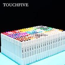 Touchfive 30 40 60 80 168 cores marcador conjunto de marcadores esboço caneta escova cabeça dupla arte marcadores conjunto para desenhar desenho de animação manga