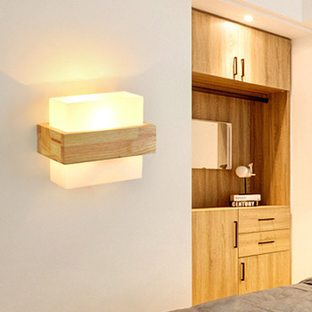japan modern led wall lamp bedroom wall lamp lighting aisle corridors stair solid wood wall lamp