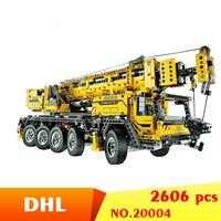 20004 2606Pcs Technic Motor Power Mobile Crane Mk II Model Building Kits Blocks Construction Toys Bricks Gift Toy 42009 DHL