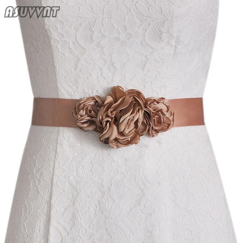 Fashion Flower Belt Women's Sash Belt Wedding Bride Bridesmaid Belt Bridal Dress Belt Wedding Flower Belt Girl Party Dress Up