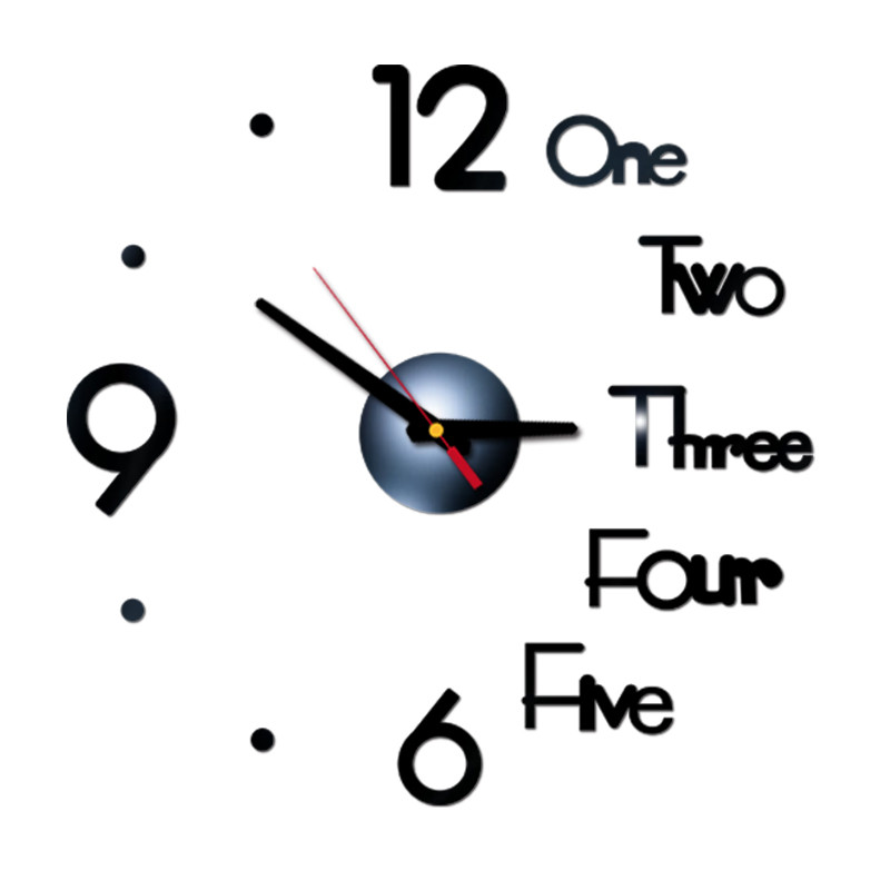 Letter Number Diy Digital Wall Clock 3d Mirror Surface Sticker Silent Clock Home Office Decor Wall Clock For Bedroom Office 7