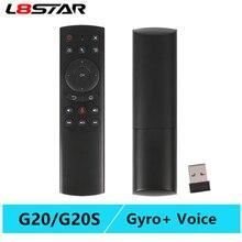 L8star G20 Air maus mit Stimme und Gyroskop smart fernbedienung IR lernen G20S air maus android tv für H96 HK1 set top box