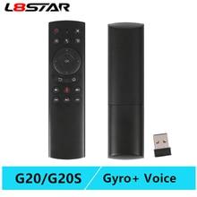 Ratón de aire L8star G20 con voz y giroscopio, control remoto inteligente, IR learning G20S Air mouse, android tv para H96 HK1, decodificador de señal