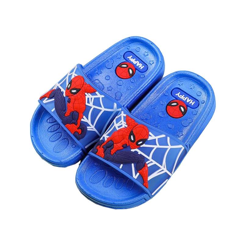 Boys Slippers Spiderman Children Sandals Summer Shoes Girls Home Indoor Slippers Boys Bathroom Bath Slippers Cartoon Sandals