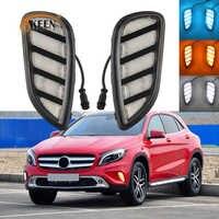 OKEEN-Luz LED de conducción diurna para coche, para Mercedes Benz GLA200 2015 2016 2017 2018, Luz LED DRL, intermitente, antiniebla, 2 uds.