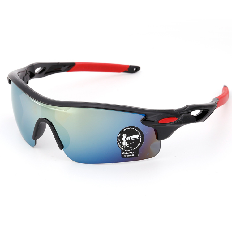 Colorful Outdoor Riding Athletic Sun Glasses Bicycle Motorcycle Transparent Night Vision Windproof Worm Sunglasses Men And Women