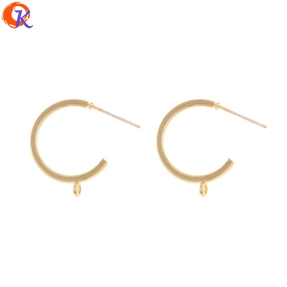 Cordial Design 100Pcs 17*21MM Jewelry Accessories/Earrings Stud/DIY Jewelry Making/Hooks Shape/Hand Made/Earring Findings