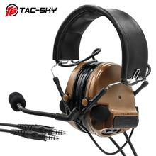 TAC-SKY COMTAC III Silicone Earmuffs Daul Edition Hearing Defense Noise Reduction Pickup Tactical Headset - CB