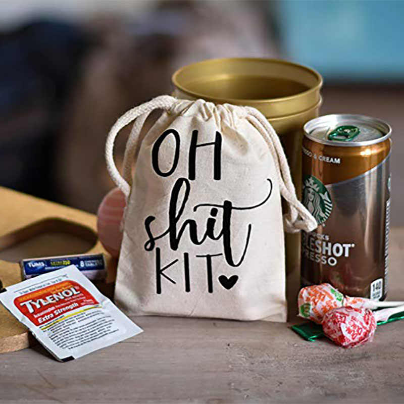 Oh Shit Kit Recovery gift Bag Bachelorette hen Party bridal shower birthday Wedding bride to be Bridesmaid decoration Favor