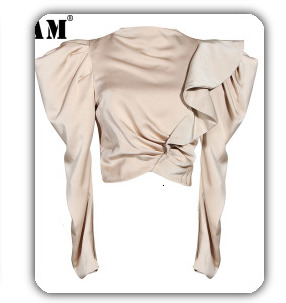 [EAM] 2020 New Spring Lapel Long Sleeve Solid Color Black Gray Split Joint Loose Big Size Jacket Women Fashion JC969 35