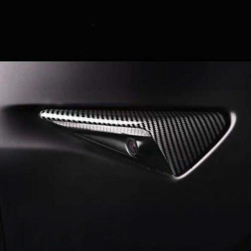 Купить 2 шт блестящие паттерн углеродного волокна боковые зеркала автомобиля
