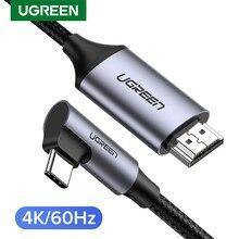 Ugreen USB C إلى HDMI كابل نوع C HDMI Thunderbolt 3 محول لماك بوك باد برو 2018 USB-C HDMI محول USB نوع-C HDMI