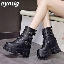 Осенне зимние модные женские кожаные ботильоны на шнуровке износостойкие