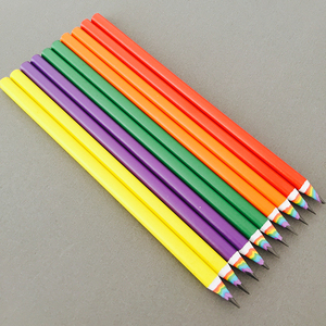 Image 3 - 50pcs New Colorful Rainbow Pencil Drawing Pencil For School Office Creative Stationery Paper Pencils Kids Gift Set Wholesale