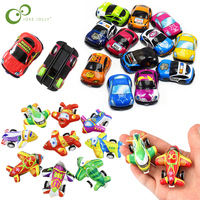 20pcs/lot Cartoon Toys Cute Plastic Pull Back Cars Toy Cars &  Airplane Toy for Child Wheels Mini Car Model Funny Kids Toys ZXH