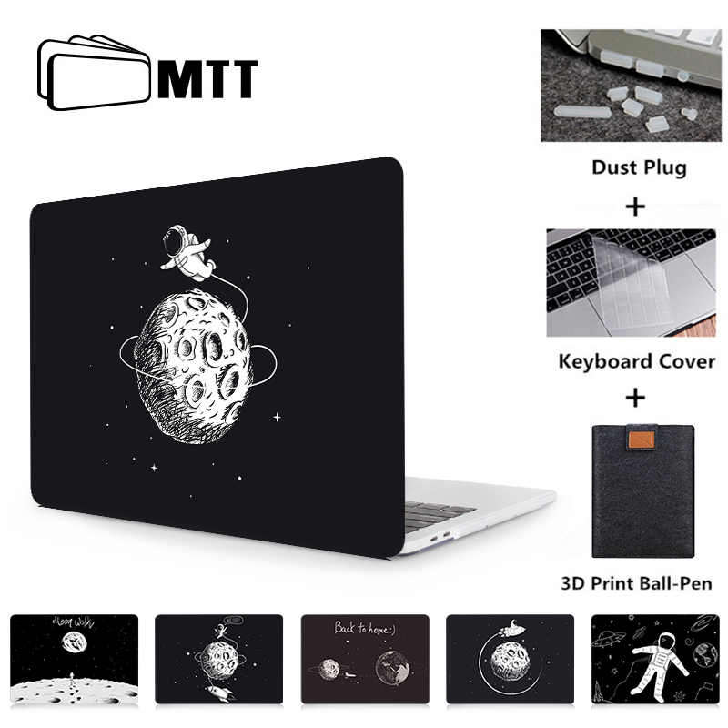 MTT Astronaut Case For Macbook Air Pro Retina 11 12 13 15 16 Inch With Touch Bar Laptop Sleeve 2019 Hard Cover + Keyboard Cover