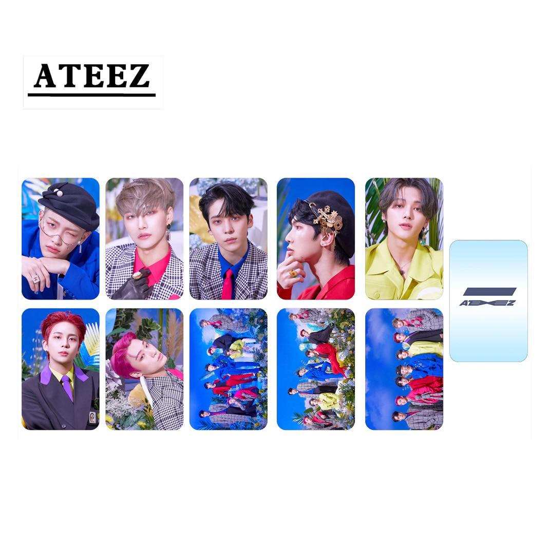 10 шт./компл. Kpop ATEEZ Photocard новый альбом ZERO FEVER Part2 Series двухсторонняя HD фото круглая угловая Фотокарта высокое качество