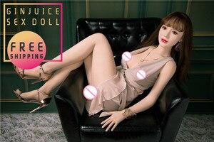 Image 5 - 165cm (5.41ft) גודל אמיתי סיליקון בובות מין לגברים אוננות ציצים גדולים יפני גברת בובות עם מתכת שלד זרוק חינם