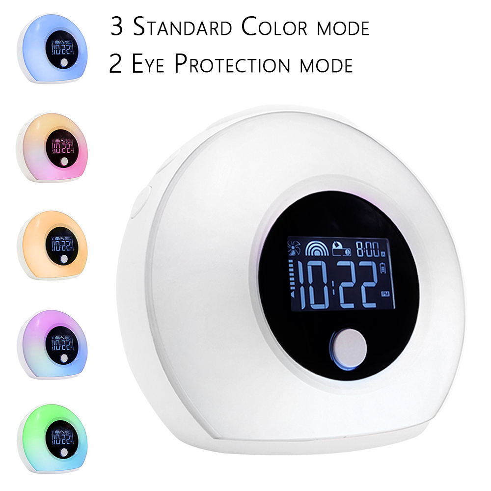5W LED Alarm Clock Smart Touch Light USB Color BT Speaker Night Light with Musical Sleep Lamp Home Decoration Accessories