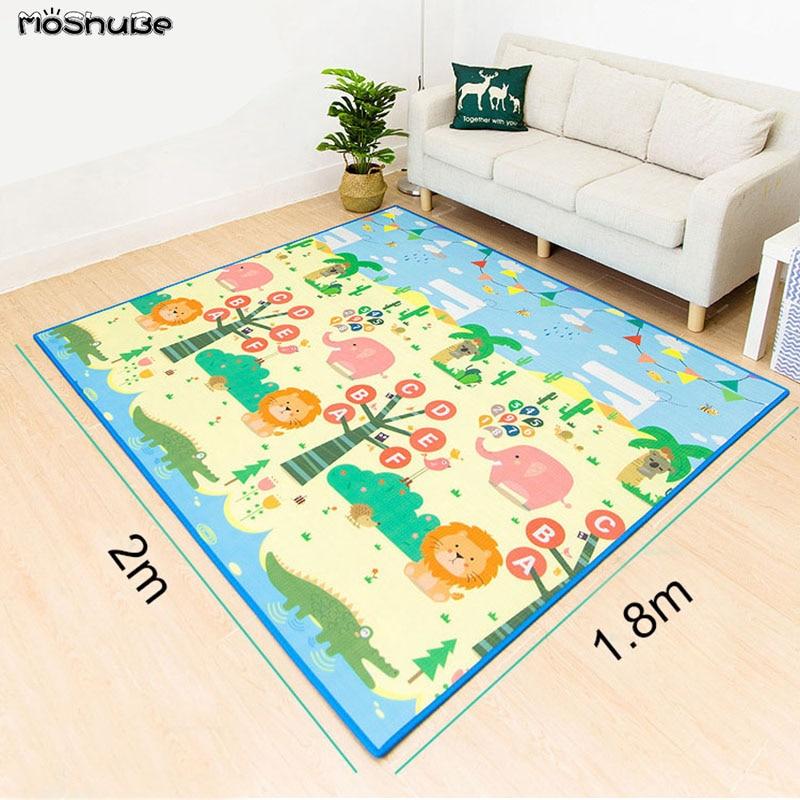 Baby Care Play Mat Thick Eco-friendly Children Playmat EPE Rug 1cm Cartoon Toys Non-slip Carpet Living Room Carpet Soft Floor