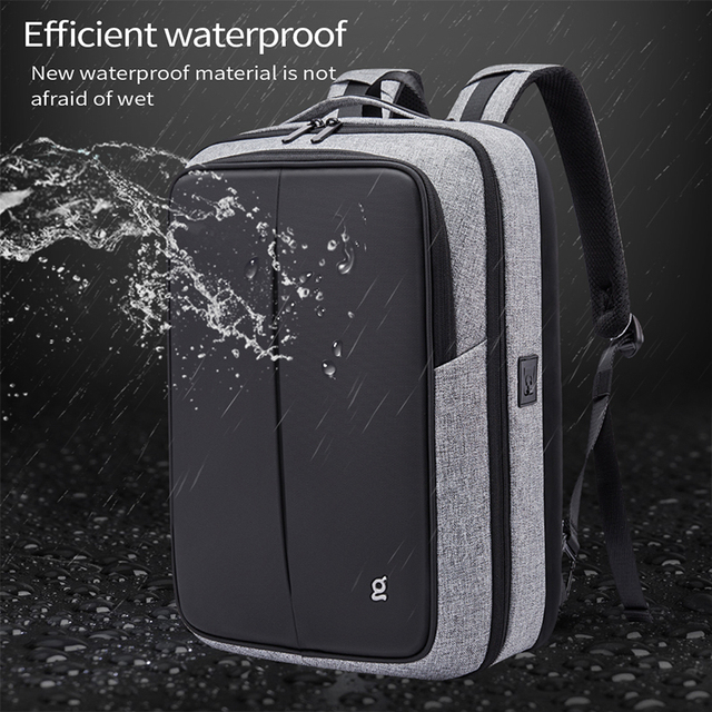 Bange Anti Theft Men Business 15.6 inch Laptop Backpacks Waterproof  External USB Charge Backpack School Fashion Travel Rucksack 3
