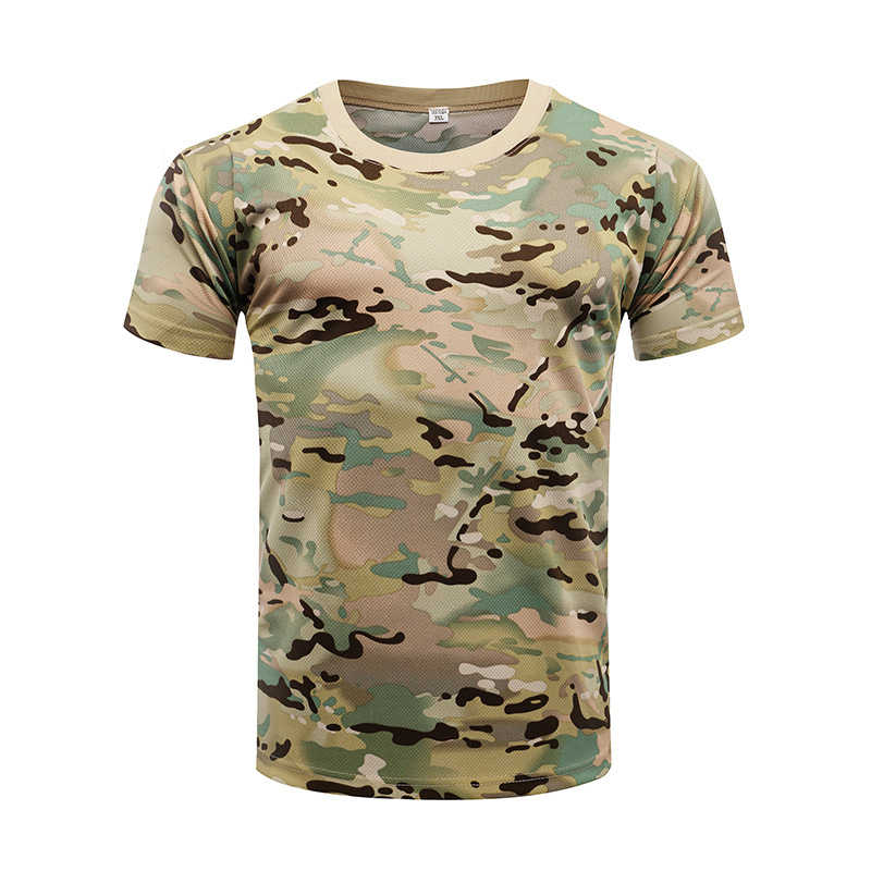 Details about  /Military Tactical Combat T Shirt Army Quick Dry Hiking Camo Tee Shirt Pullovers