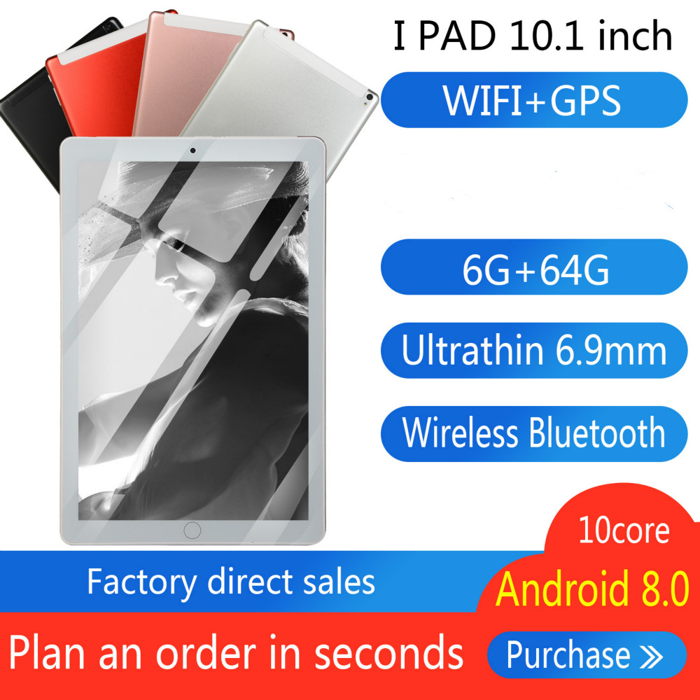 2020 Newest 10 Inch Android8.0 Tablet PC Quad Core 4G RAM 64G ROM 4G Phone Call Dual Sim Cards Wifi/GPS Tablets For Kids