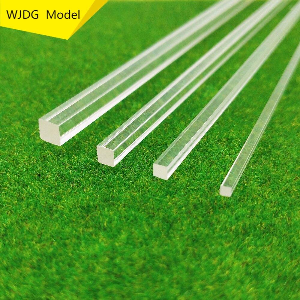 10 PCS square high transparent acrylic plexiglass rod DIY manual construction model material length 25cm