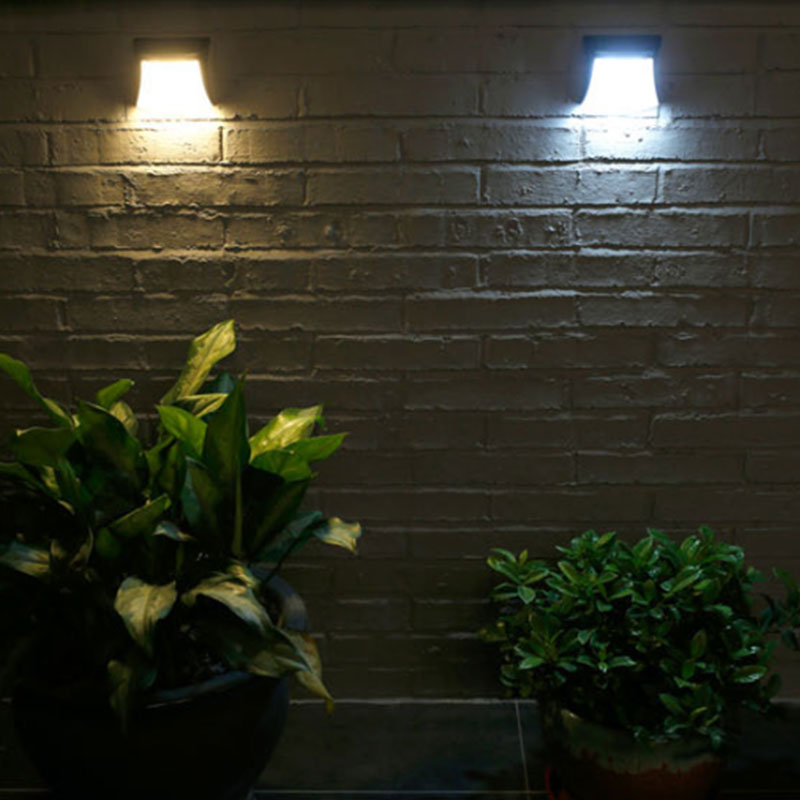 3PCS Outdoor Automatic Switch Wall Light Home  Waterproof 3LED Light Sensor Control Solar Power Outdoor Wall Lamp Light