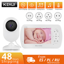 KERUI 4.3 inch Screen Babyphone Camera Video Nanny Baby Monitor With Camera Security Babyfoon Temperature Monitor Night Vision
