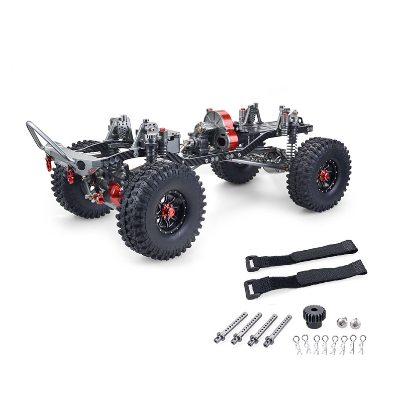 HOT RC Racing CNC Aluminum Metal and Carbon Frame for RC Car 1/10 AXIAL SCX10 Chassis 313Mm Wheelbase Vehicle RC Crawler Cars Pa|Replacement Parts & Accessories| |  - title=