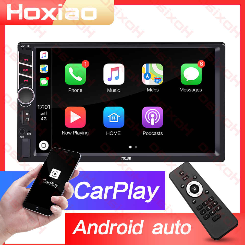 "Carplay Android AUTO 2 din coche radio reproductor de pantalla táctil espejo enlace MP5 SD/FM/USB/AUX /Bluetooth 7 ""HD de Audio de coche 2DIN"