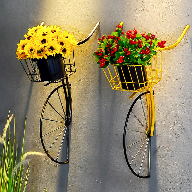 Retro Creative Wrought iron Bicycle Head Wall Hanging Bicycle Front Wall Decoration Tea Shop Coffee Shop Bar Wall decorations