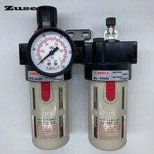 Zusen BFC 2/3/4000 1/4 3/8 1/2 Compressor Air Pneumatic Adjustable Filter Regulator Lubricator Control Units FRL