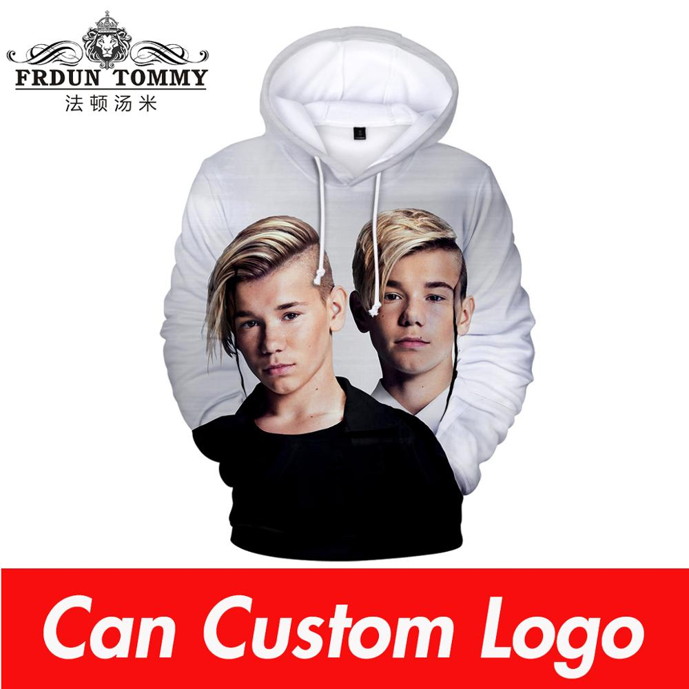 Hot Marcus And Martinus 3D Hoodies Men/Women Sweatshirt Fall Winter Fashion Boys/Girls Hip Hop Hooded Jacket Funny Clothes