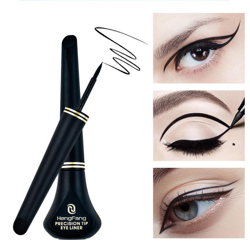 HengFang 1 Pcs Black Long Lasting Eye Liner Pencil Waterproof Eyeliner Smudge-Proof Cosmetic Beauty Makeup Liquid TSLM1