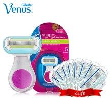 Gillette Venus Razor dla kobiet dziewczynki Ultra cienkie warstwy ostrze z smarowaniem mydło Safty Razor golenie i usuwanie włosów