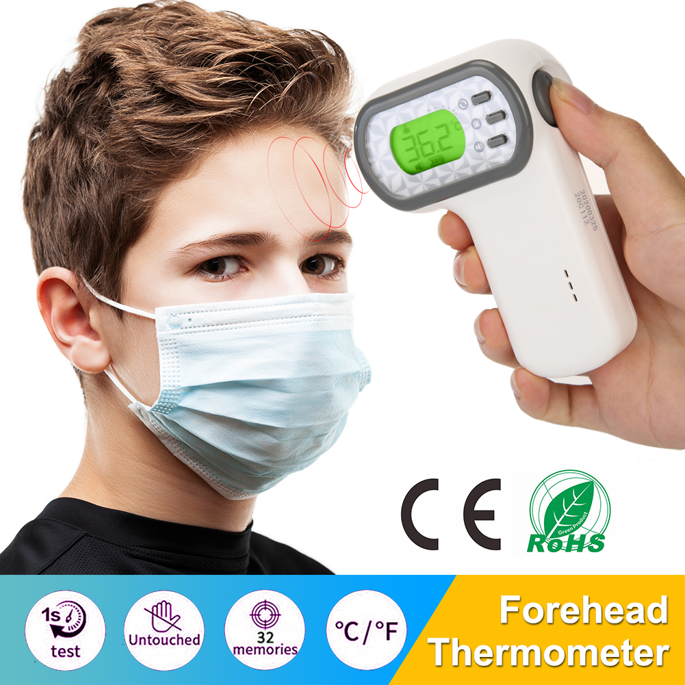Handheld Baby Adult Digital Infrared Thermometer Gun Non-contact Body Forehead Ear Temperature Measurement Device IR Termometro