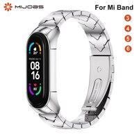 Riemen Für Mi Band 5 6 Metall Armband für Xiaomi Mi Band 4 3 Strap Armbänder Pulsera Mi Band 6 correas Miband NFC Gobal Version