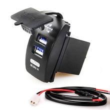 12-24V Dual USB Автомобильное зарядное устройство 5V 3.1A универсальное автомобильное зарядное устройство для автомобиля мотоцикла Электрический автомобиль ATV Лодка