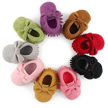 New Baby Shoes Hot PU Suede Leather First Walkers Newborn Boy Girl Infant Moccasins Fringe Soft Non-slip Footwear Crib Shoe
