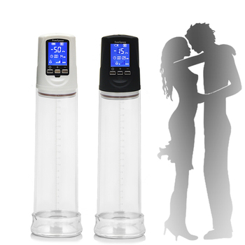 Lcd screen penis pumps automatic extender electric penis enlargement penis enlarger training sex toys for delayed ejaculation
