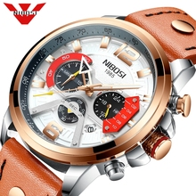 NIBOSI ใหม่นาฬิกาผู้ชายผู้ชายนาฬิกาสปอร์ตนาฬิกาผู้ชายนาฬิกาควอตซ์ผู้ชายสบายๆทหารนาฬิกากันน้ำ Relogio Masculino
