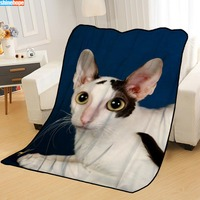New Arrival Pisica Animals Blankets Printing Soft Nap Blanket On Home/Sofa/Office Portable Travel Cover Blanket 100X125cm|Throw|   -