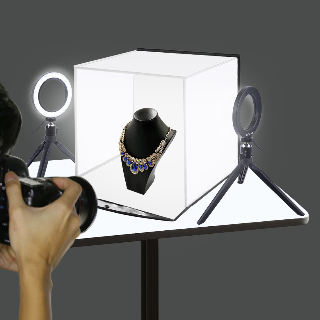 Plateau de Table Softbox anneau flash support de lumière 30cm godox Photo Studio lumière photographie neewer tente décors Kit