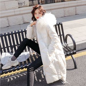 Image 3 - FTLZZ 2020 Winter Jacket Women 90% White Duck Down Coats Large Fur Collar Loose Parkas Outerwear Thick Waterproof Jackets